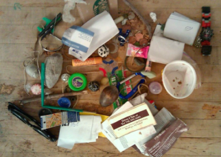miscellaneous contents of my son's pockets one random day