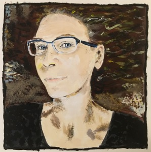Julia acrylic self-portrait